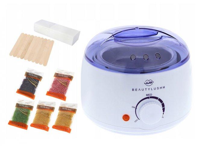 Ohřívač vosku na depilaci s příslušenstvím