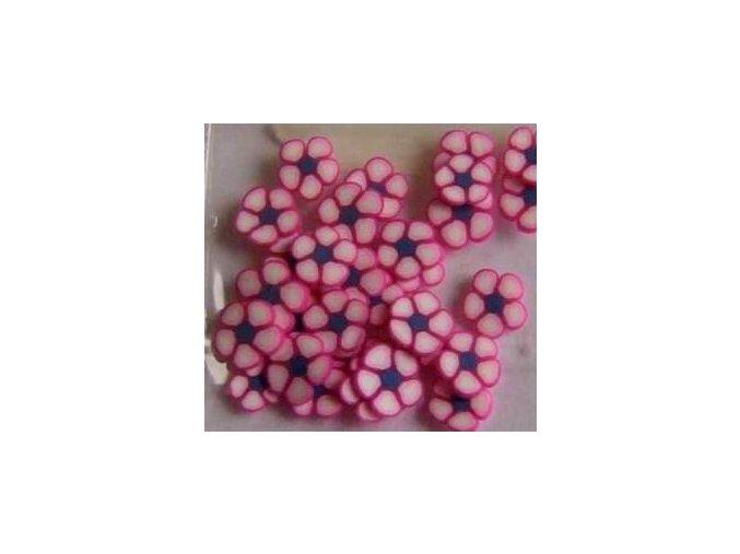 FIMO, růžová kytička 1kus