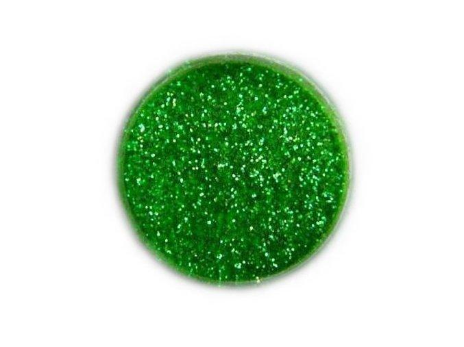 Třpytky na nehty, zelené