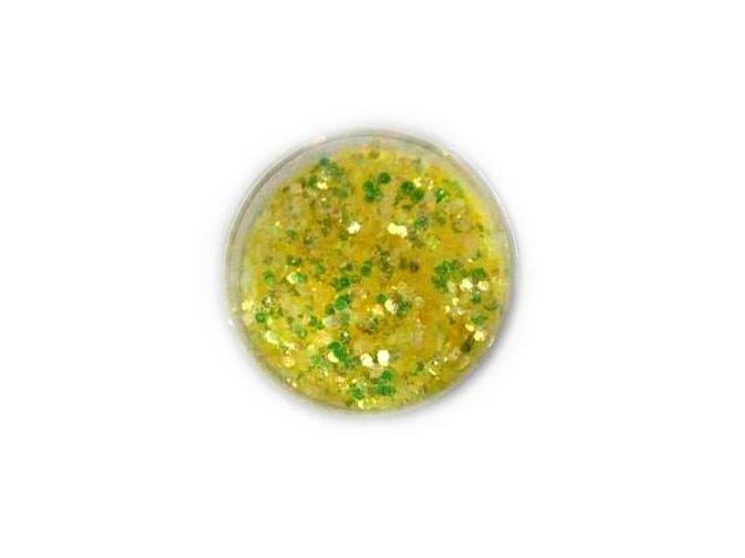 Třpytky na nehty, žluté 5g