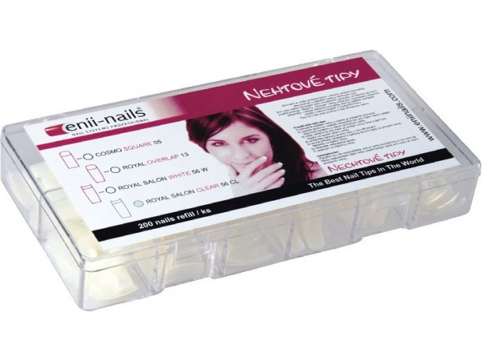 Enii nails Cosmo square 200 ks - box