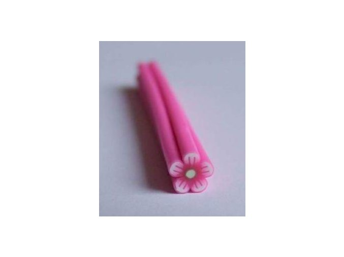 FIMO zdobení na nehty, růžová kytka