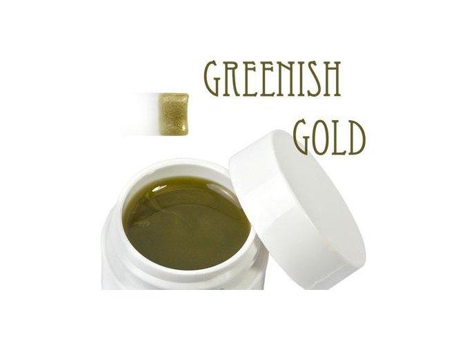 Metalický UV gel 5ml zeleno-zlatý