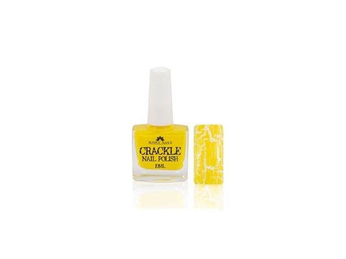 Praskací lak na nehty 10ml, žlutý