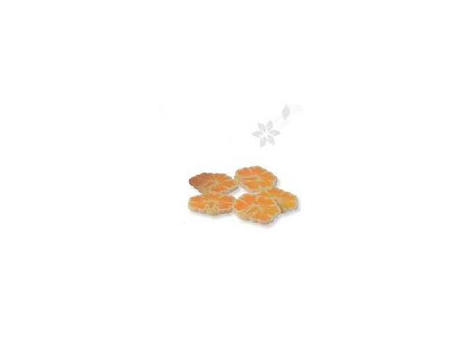 FIMO, oranžová kytka 1kus