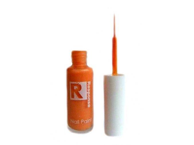Response zdobící lak na nehty, oranžový