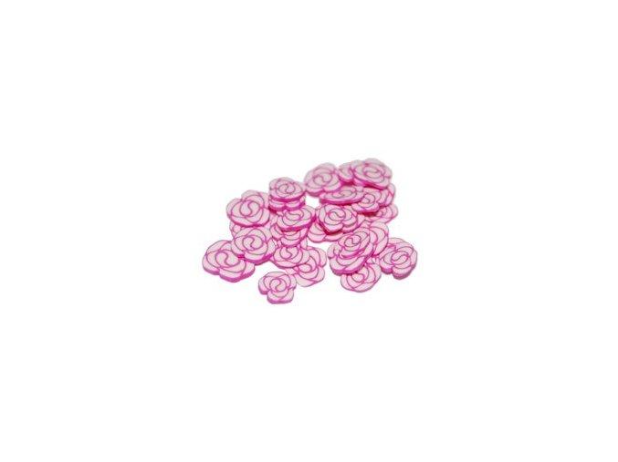 FIMO, růžová růže 1kus