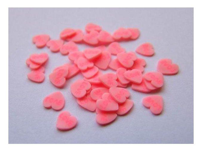 FIMO, růžové srdíčko 1kus