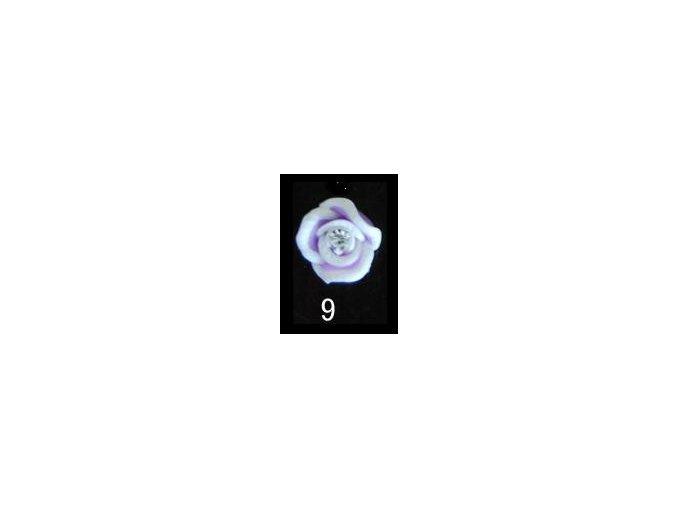 3D zdobení, růže fialová 10ks