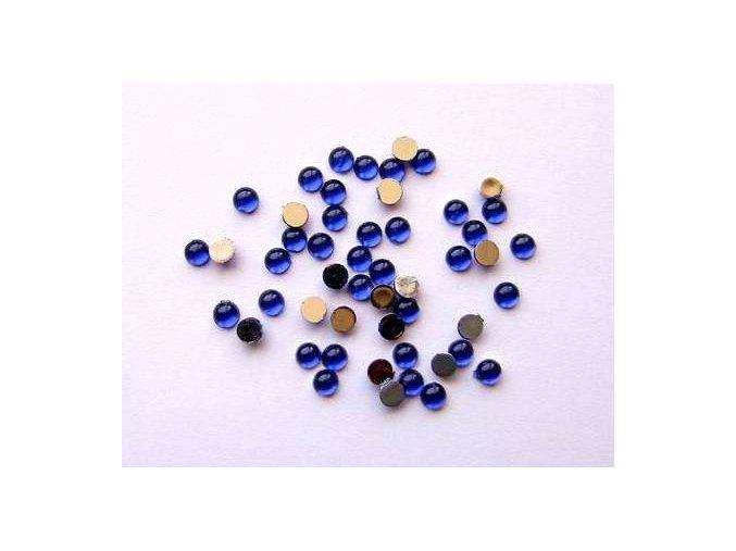 Zdobení nehtů kamínky modré 35 kusů