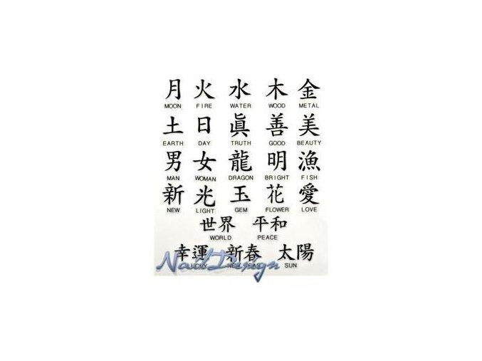 Zdobení nehtu čínské znaky