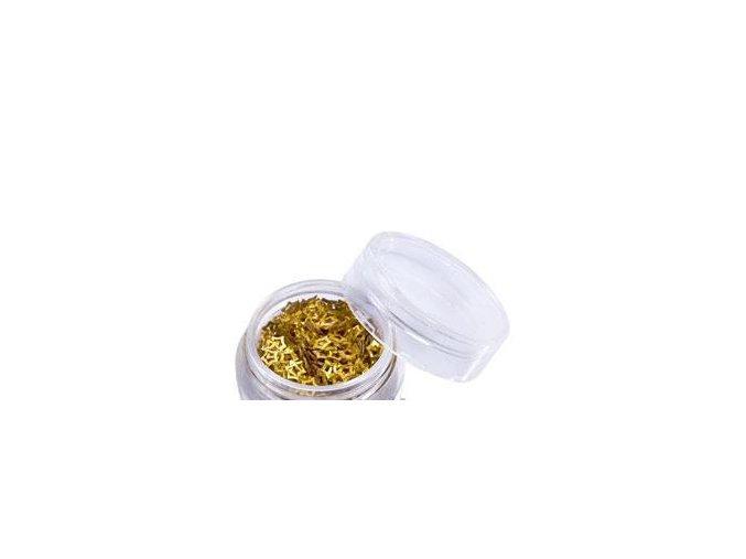 Zdobení nehtu hvězdičky zlaté 100 ks
