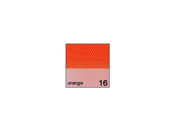 Síťka - zdobení nehtů, oranžová