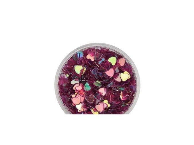 Zdobení nehtů srdíčka fialové 100 kusů