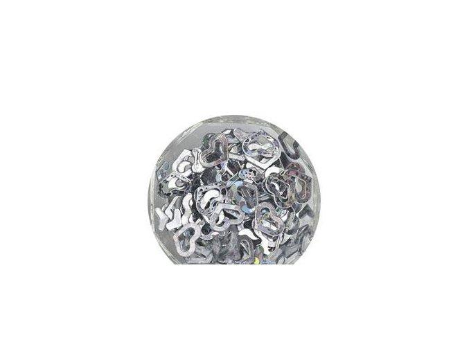 Zdobení srdce stříbrné 100 kusů