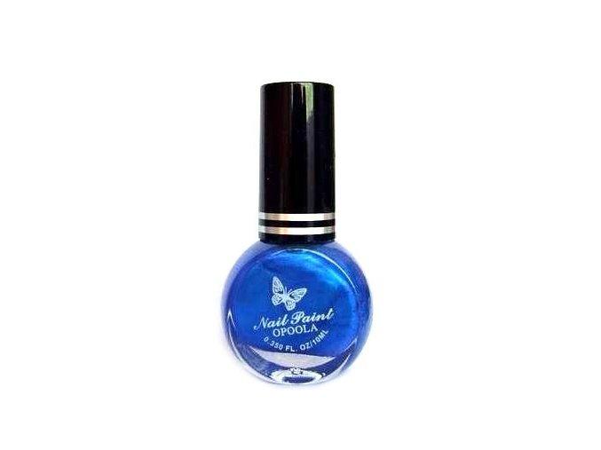 Lak na razítkování, modrý s perletí 10ml