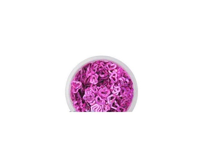 Zdobení nehtů srdíčka růžové 100 kusů