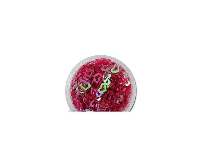 Zdobení nehtu srdíčka červené 100 kusů