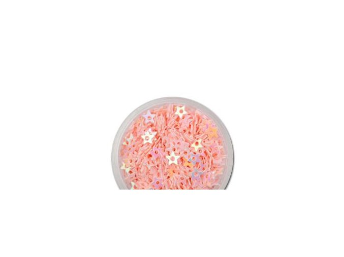 Zdobení nehtů hvězdičky růžové 100 ks