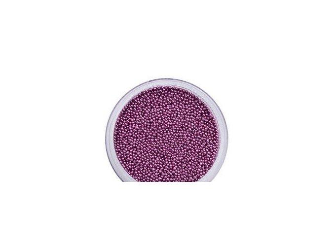 Perly na zdobení nehtů fialová