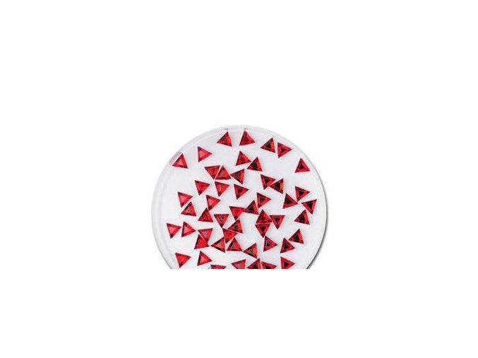 Zdobení nehtů trojúhelník červené 50 ks
