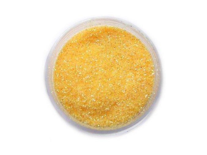 Třpytky na nehty, žluto-oranžové