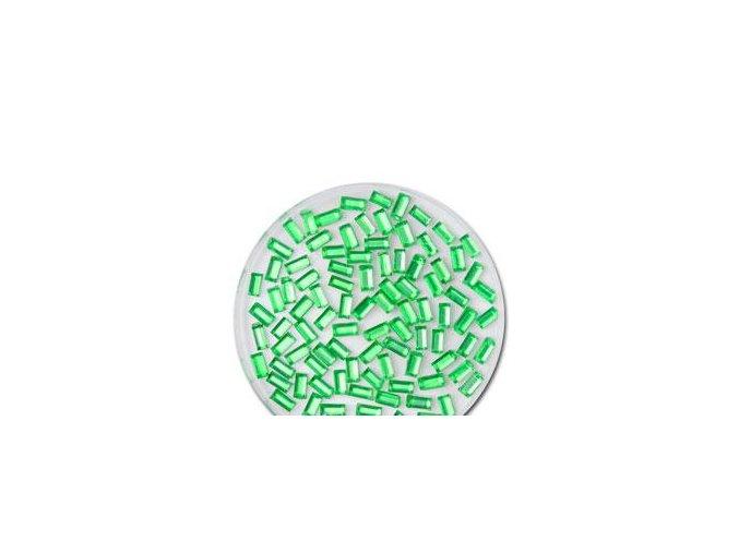 Zdobení nehtů obdélníky zelené 50 ks