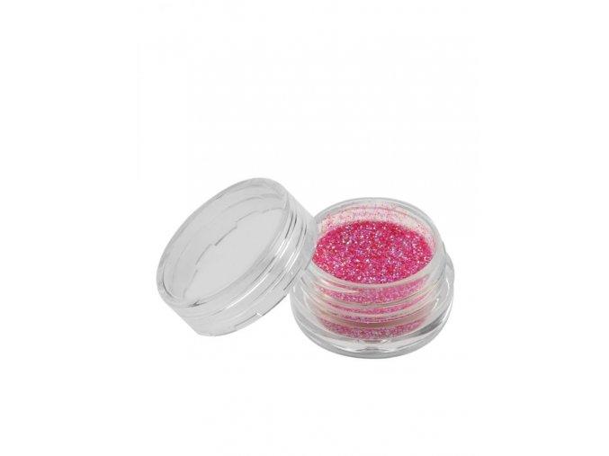 Třpytky na nehty, růžový prach