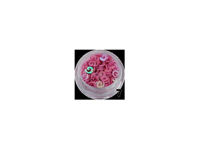 Flitry - růžová spirála, 100ks