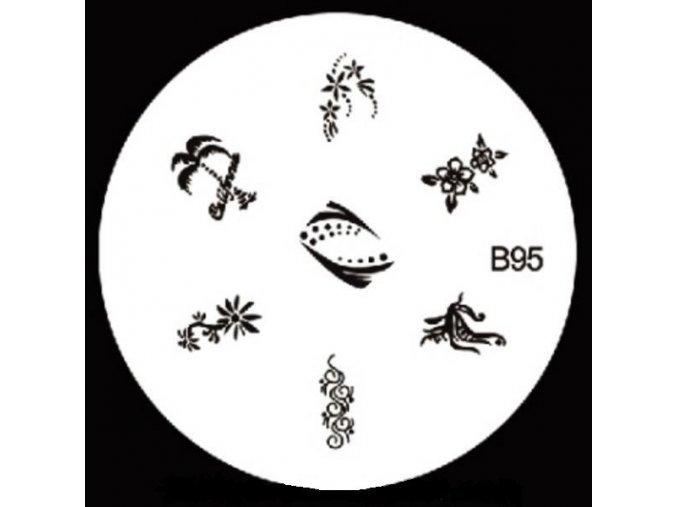 Destička na razítka B95