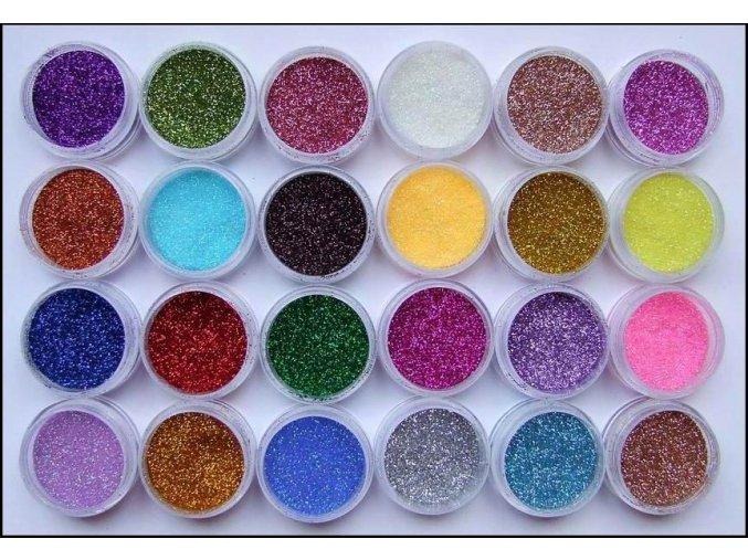 Sada třpytek, 24 barev