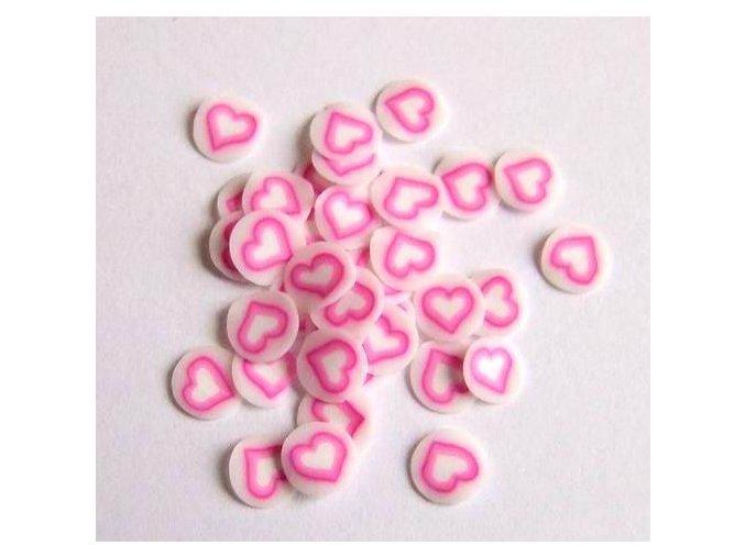 FIMO, růžové srdce 1kus