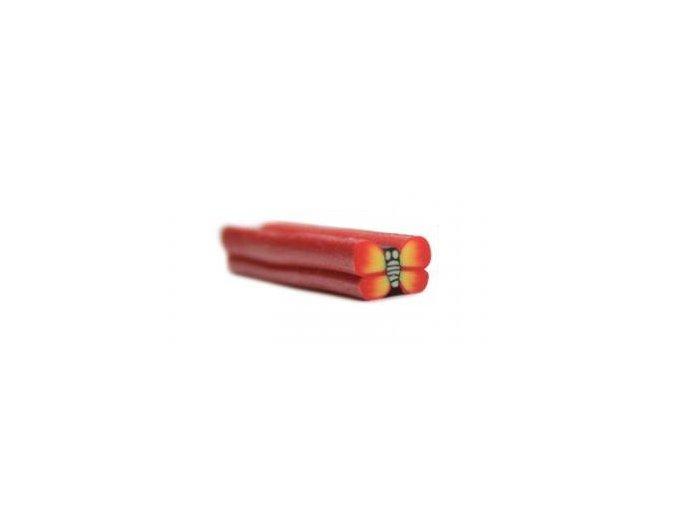 FIMO zdobení na nehty červený motýl