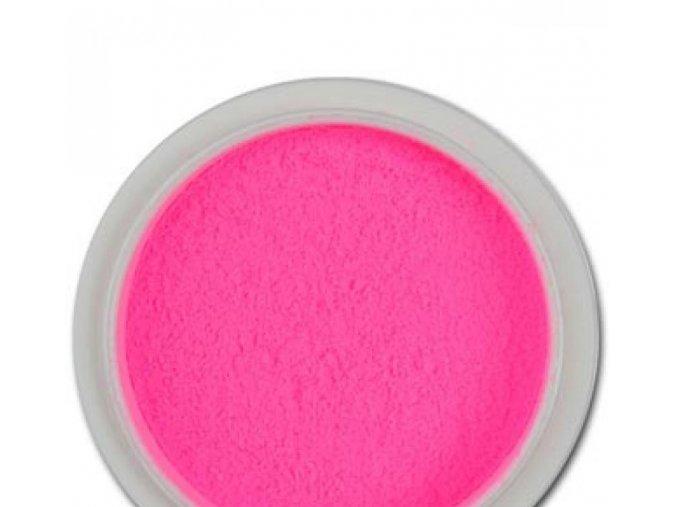 Barevný akrylový pudr, neon růžový