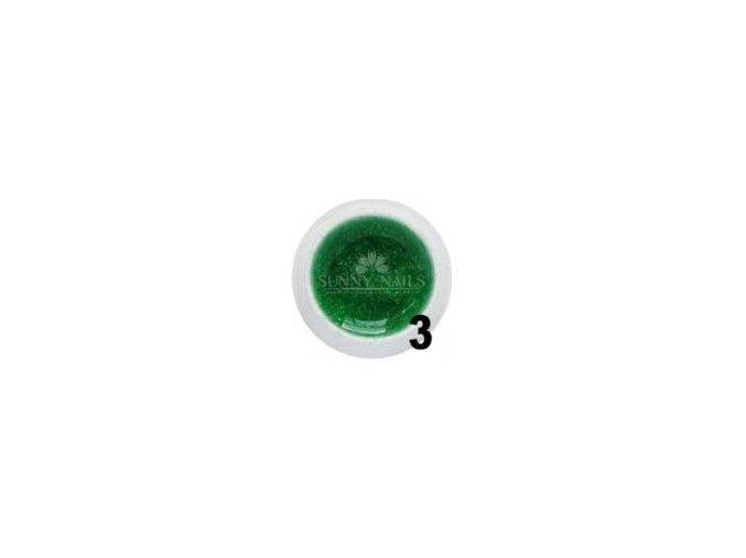 UV gel Sunny nails 5ml, zelený glitter