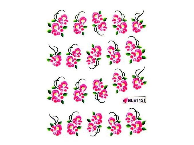 Vodolepky na nehty, květy 1451