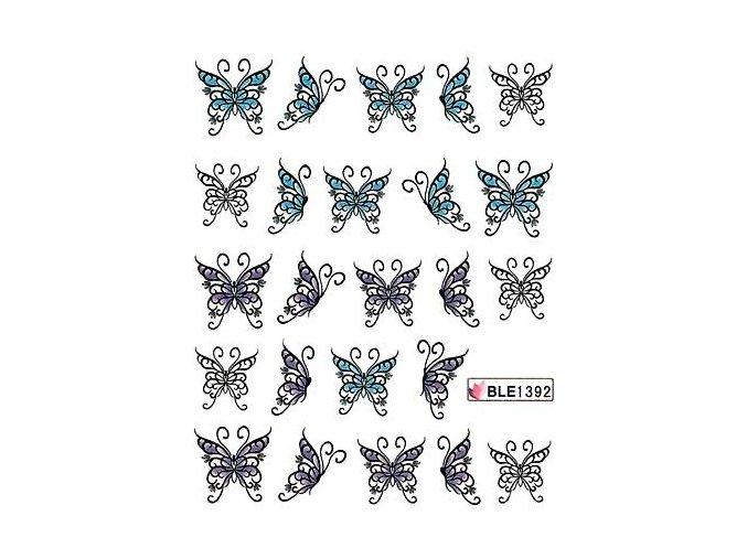 Vodolepky na nehty motýl 1392