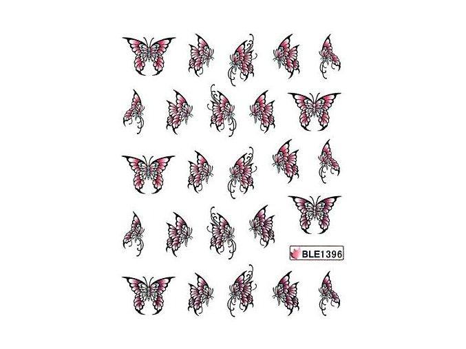 Vodolepky na nehty motýl 1396