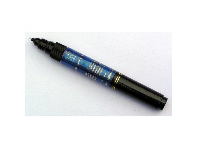 2v1 zdobící pero na nehty, modré s perletí