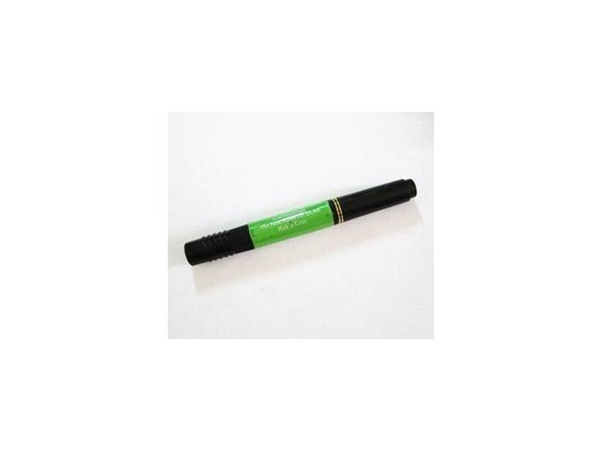 2v1 zdobící pero na nehty, zelené s perletí