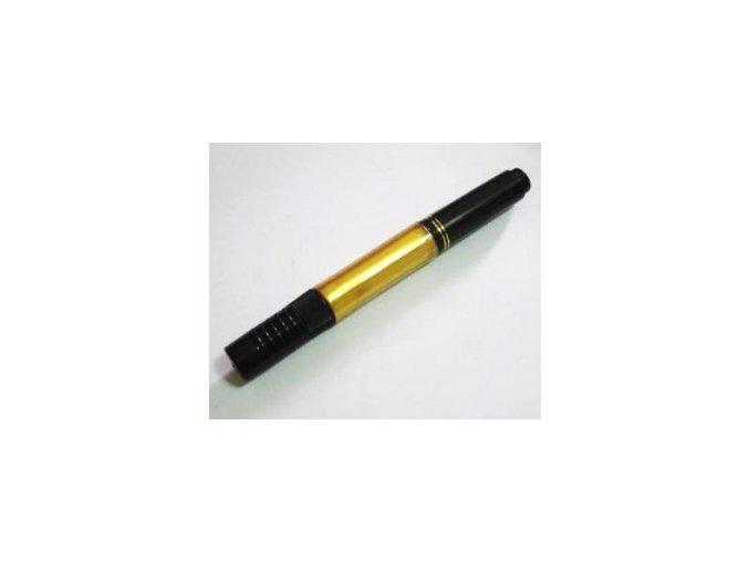 2v1 zdobící pero na nehty, zlaté s perletí
