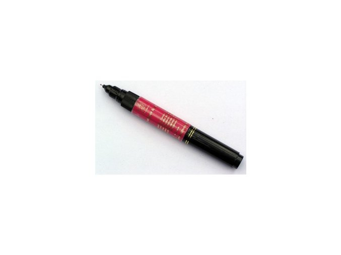 2v1 zdobící pero na nehty, tmavě růžové