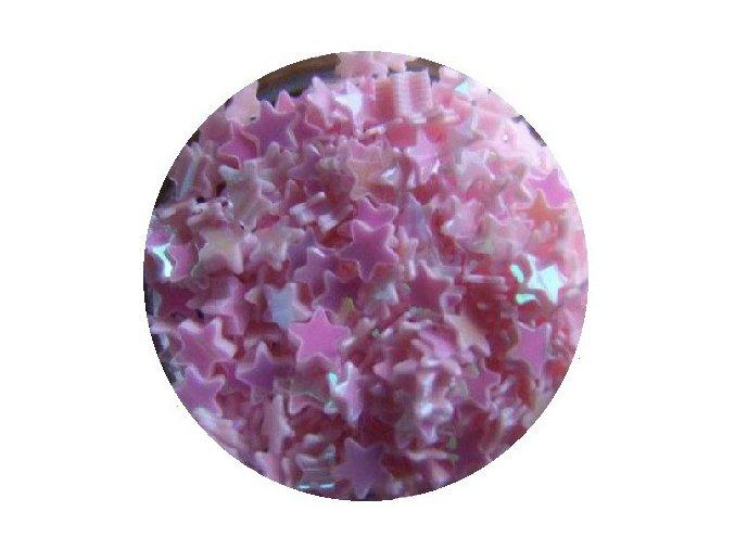 Zdobení nehtů hvězdičky (růžové), 500 ks