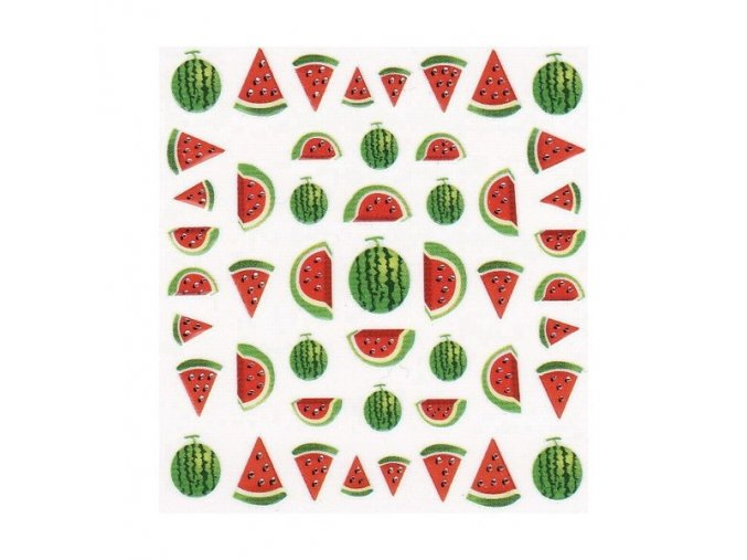 Nálepky na nehty, meloun