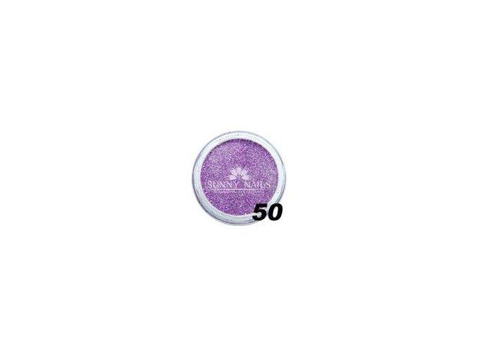 Barevný akryl, fialové třpytky