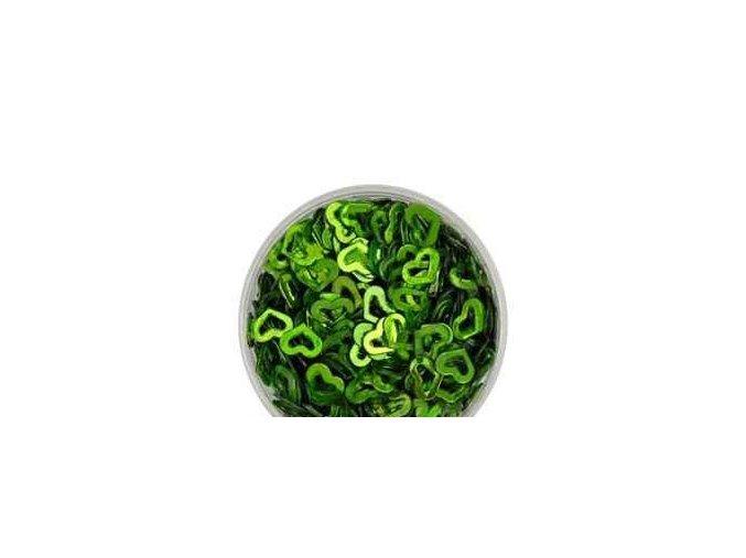 Zdobení nehtů srdíčka zelené 100 kusů