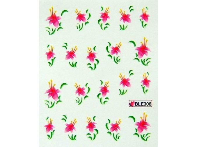 Vodolepky růžový květ 308