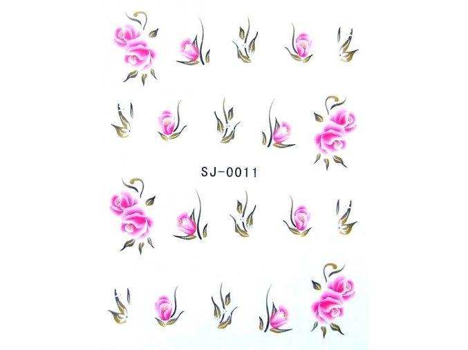 Vodolepky, růže 0011
