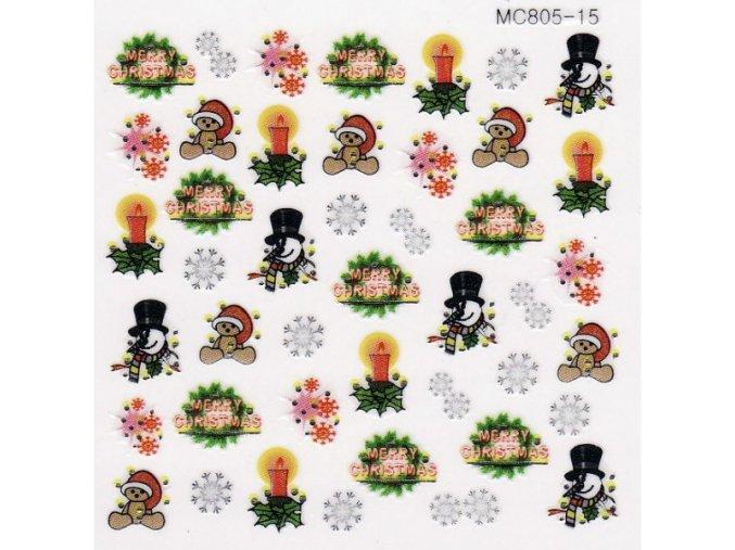 Vánoční nálepky MC15
