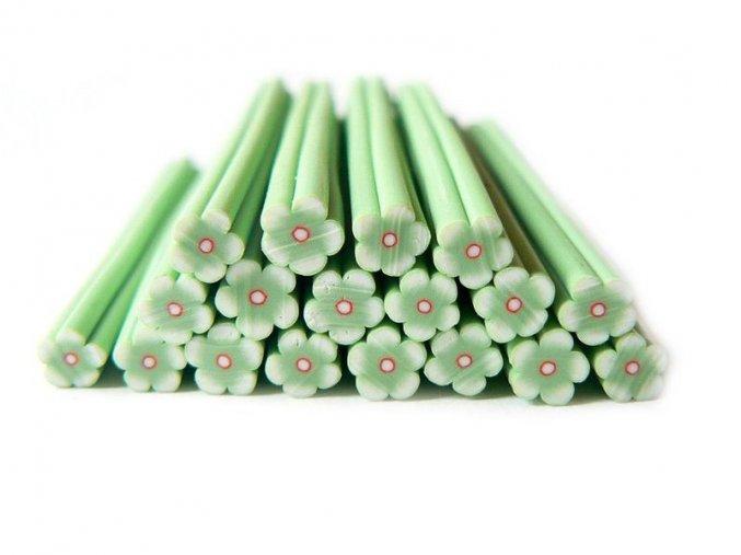 FIMO tyčinka, zelený květ